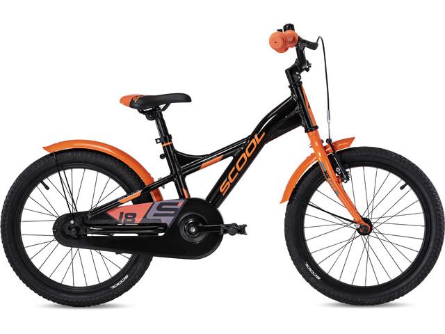 s'cool XXlite alloy 18 Kinderen, black/orange